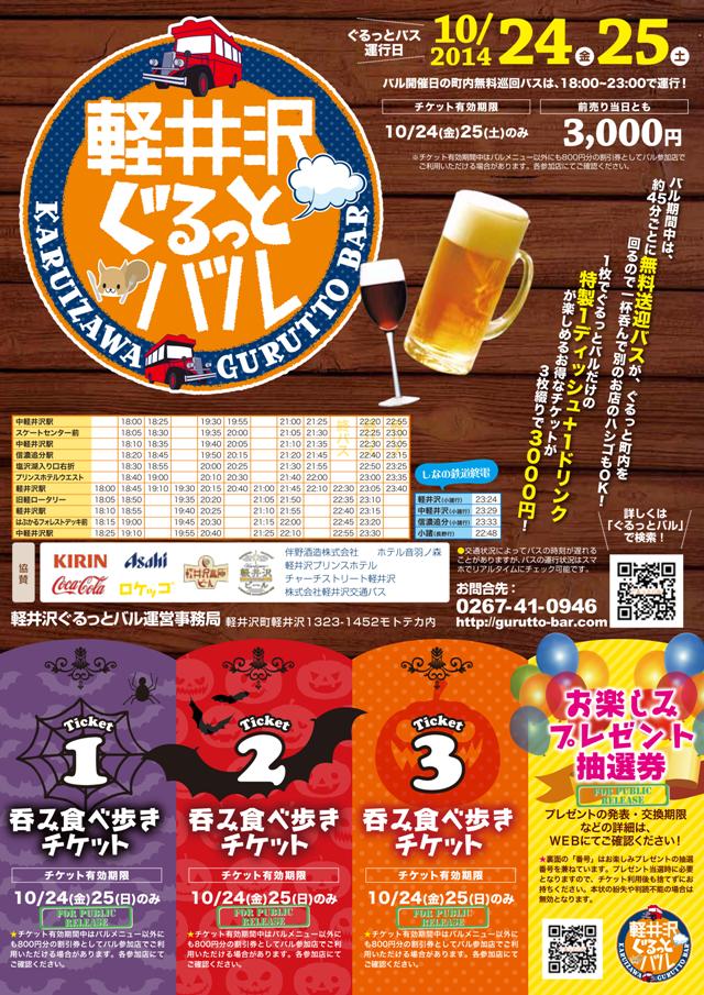 第3回(その1)軽井沢ぐるっとバル・チケット見本